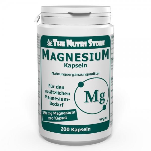 Magnesium 350 mg vegane Kapseln 200 Stk.