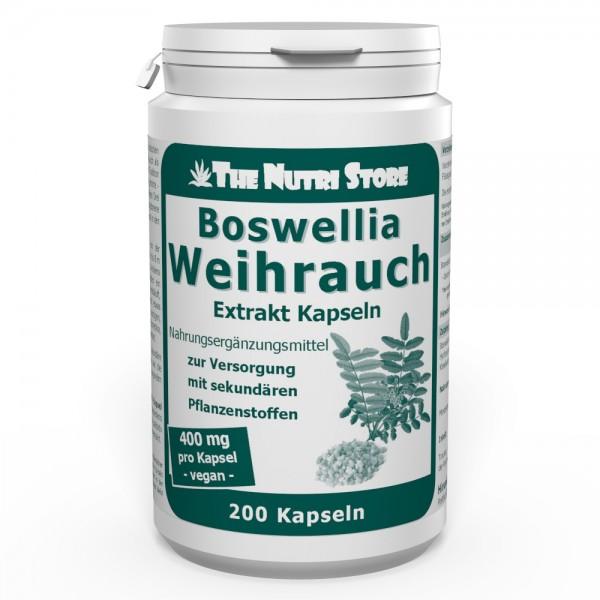 Weihrauch Extrakt 400 mg vegane Kapseln 200 Stk.