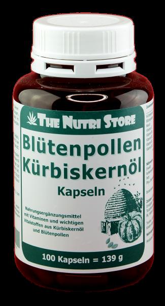Blütenpollen Kürbiskernöl Kapseln 100 Stk.