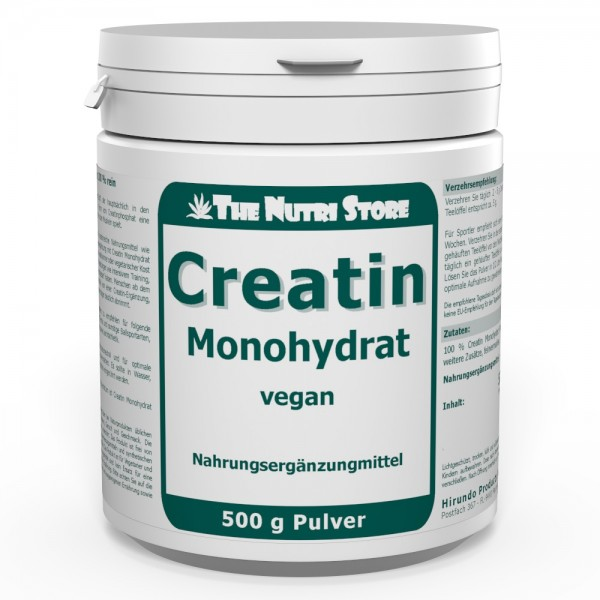 Creatin Monohydrat 100 % rein Pulver 500 g vegan