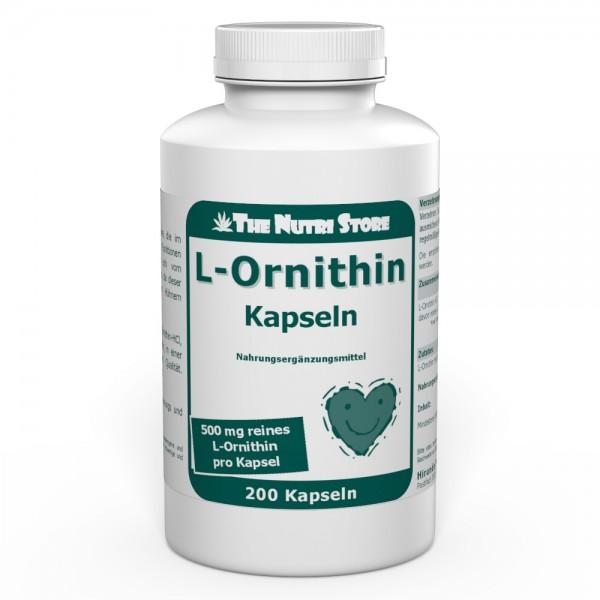 L-Ornithin 500 mg Kapseln 200 Stk.