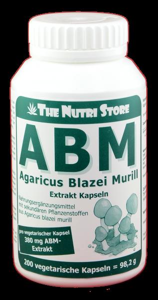 ABM Agaricus blazei murill Pilz Extrakt Kapseln 200 Stk.