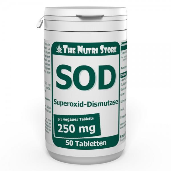 SOD 250 mg Superoxid-Dismutase Tabletten 50 Stk.