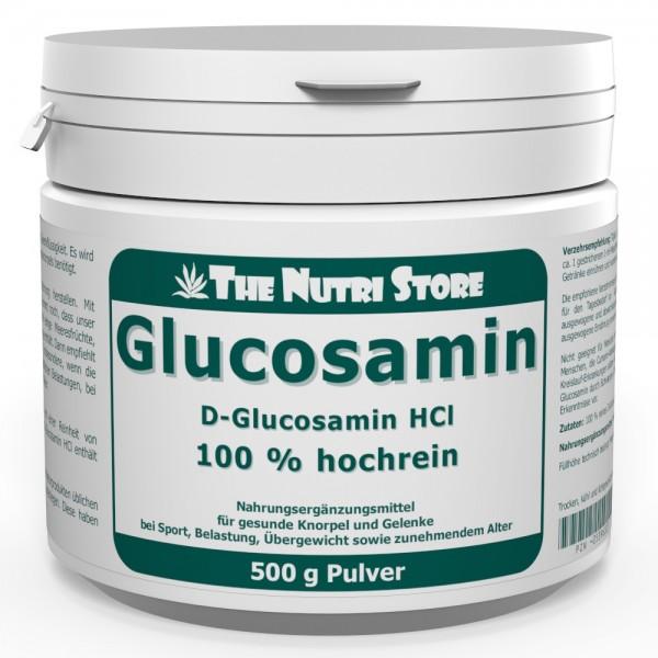 Glucosamin HCl 100 % rein Pulver 500 g