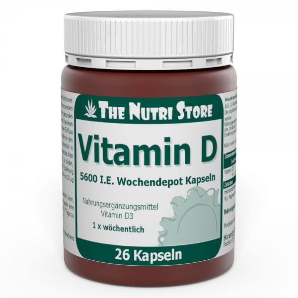 Vitamin D 5600 I.E. Wochendepot Kapseln 26 Stk.