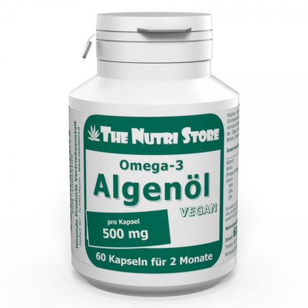 Omega-3 Algenöl 500 mg vegan 60 Kapseln