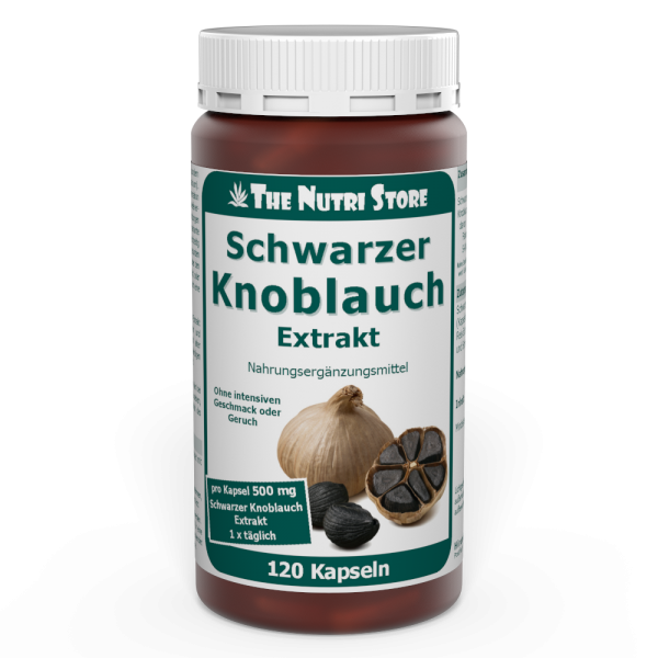 Schwarzer Knoblauch Extrakt 500 mg Kapseln 120 Stk.