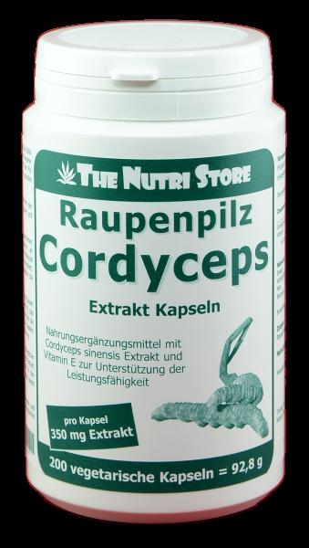 Cordyceps Raupenpilz Extrakt Kapseln 200 Stk.