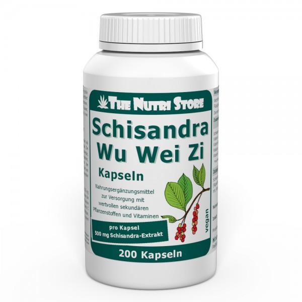 Schisandra WuWeiZi 500 mg Fruchtkonzentrat vegane Kapseln 200 Stk.