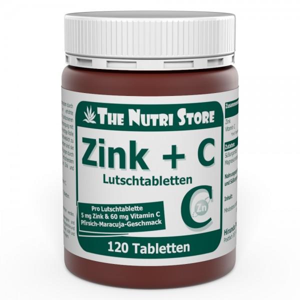 Zink + C Lutschtabletten 120 Stk. - Pfirsich-Maracuja-Geschmack