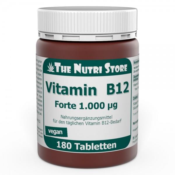 Vitamin B12 Forte 1000 µg vegane Tabletten 180 Stk.