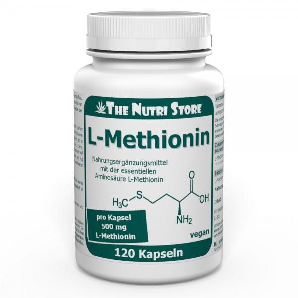 L-Methionin 500 mg vegane Kapseln 120 Stk.