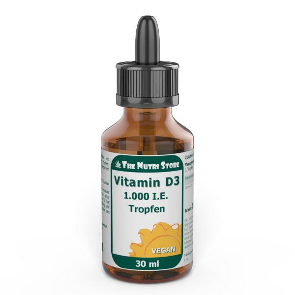 Vitamin D3 1000 I.E. Tropfen vegan 30 ml