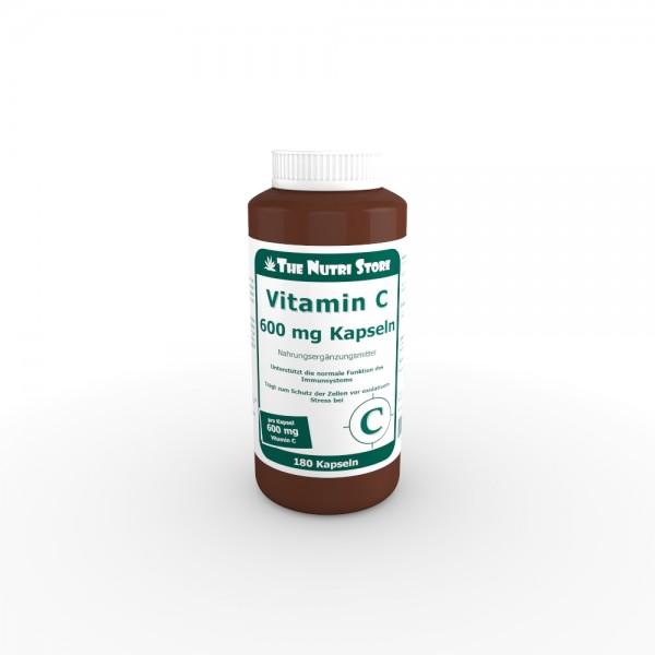 Vitamin C 600 mg Kapseln 180 Stk.