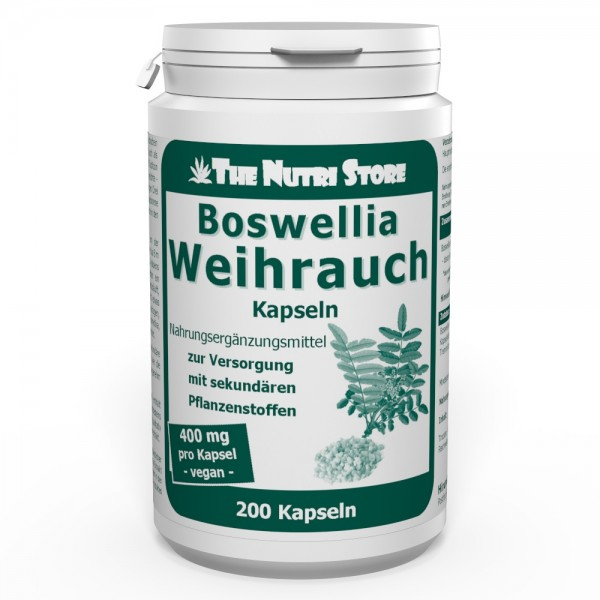 Weihrauch 400 mg vegane Kapseln 200 Stk.