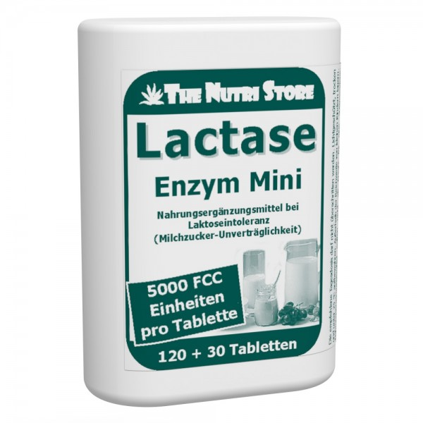 Lactase 5.000 FCC Mini Tabletten Dosierspender 120+30