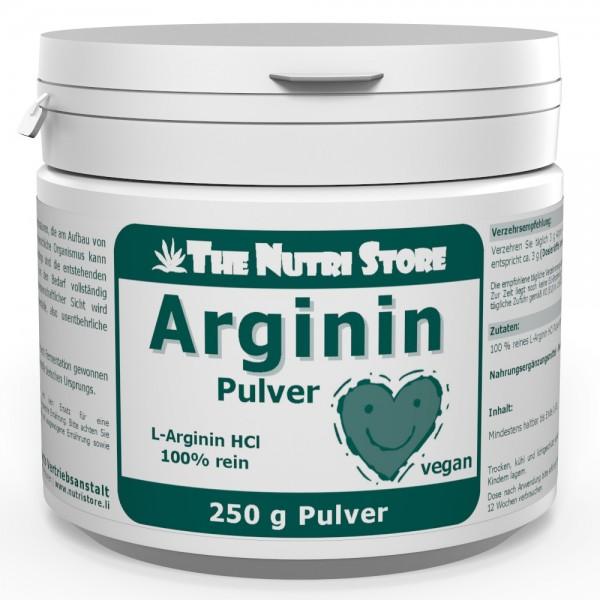 Arginin HCl 100 % rein veganes Pulver 250 g