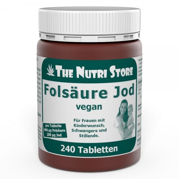 Folsäure 400 + Jod 200 vegane Tabletten 240 Stk.