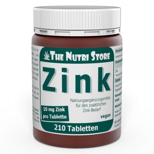 Zink 10 mg vegane Tabletten 210 Stk.