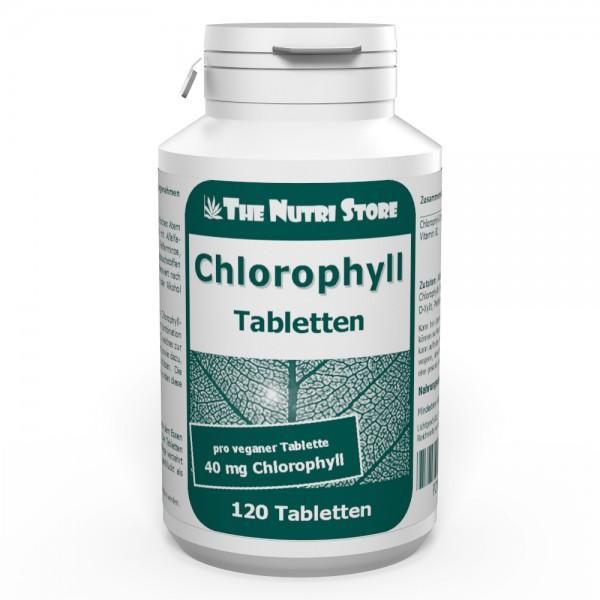 Chlorophyll 40 mg vegane Tabletten 120 Stk. für frischen Atem / Körpergeruch