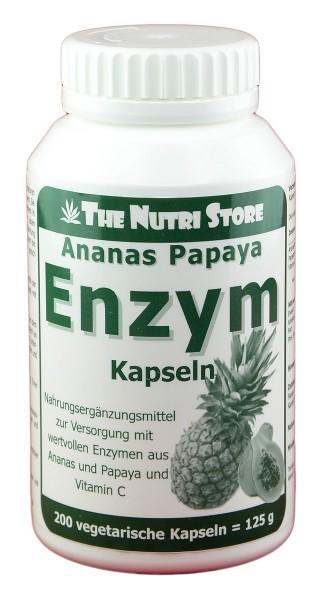 Papaya Ananas Enzym Kapseln 200 Stk.
