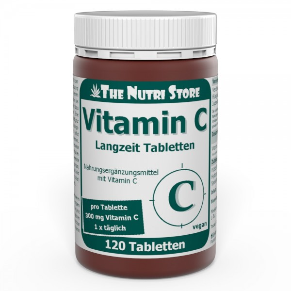 Vitamin C 300 mg Langzeit vegane Tabletten 120 Stk.
