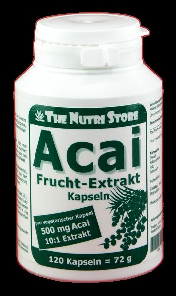 Acai Frucht-Extrakt 500 mg Kapseln 120 Stk.