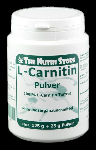 L-Carnitin 100 % rein Pulver 125 g + 25 g
